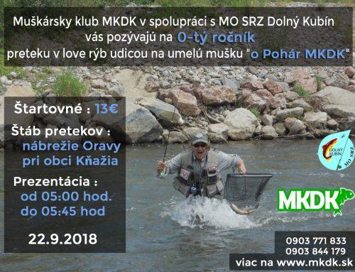 0-tý ročník preteku v love rýb na udicu na umelú mušku o pohár MKDK